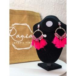 Aretes rosa